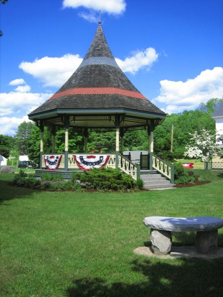 Bandstand in Center of New Boston Park